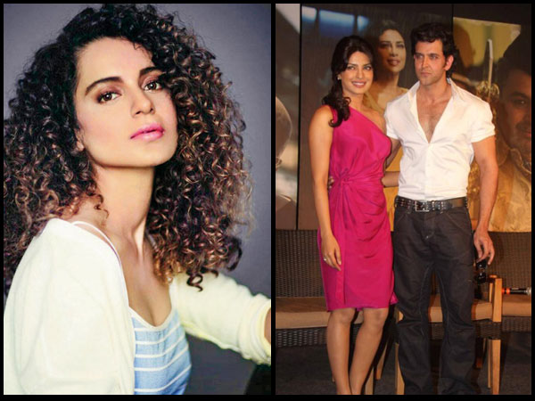 Oh No, Not Again! Kangana Ranaut Makes Fun Of Hrithik Roshan & Priyanka Chopra!