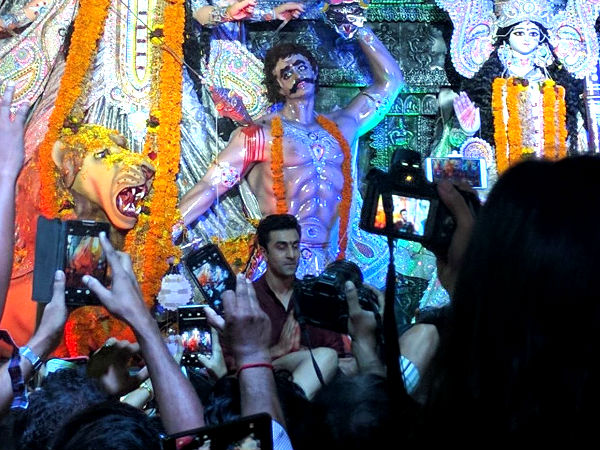 Ranbir At The Durga Puja