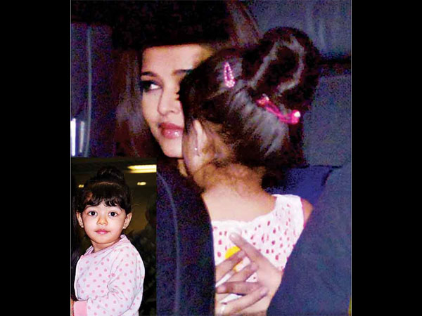 Aishwarya Snapped With Aaradhya