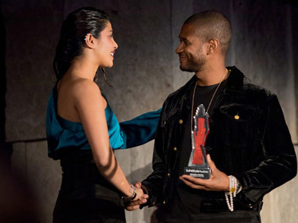 Must See Pictures! Priyanka Chopra Meets R&B Star Usher At The InStyle Awards