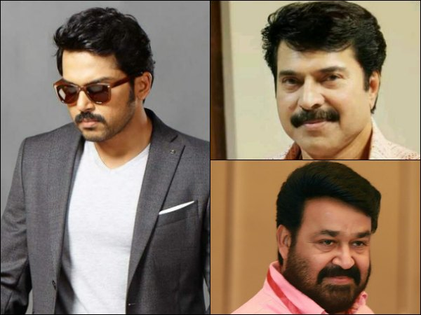 Karthi Opens Up About Mammootty And Mohanlal!