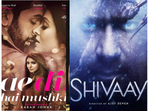 This Diwali, Expect 'Unexpected' With Ae Dil Hai Mushkil-Shivaay Clash At The BO!