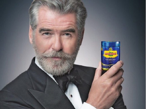 Pierce Brosnan Distressed By Indian Pan Masala Brand Advertisement