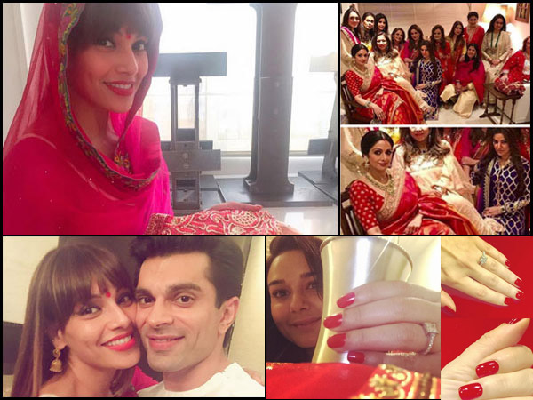 Absolutely Gorgeous! Bipasha Basu Celebrates Her FIRST Karva Chauth, Also See Other Actesses' Pics