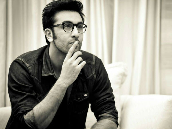 Ranbir Kapoor Sad Thinking Spectacles Black And White