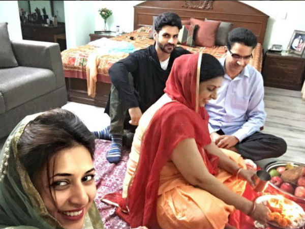 Divek With Family