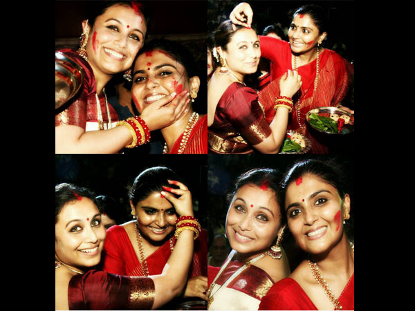 Rani With Her Sister-in-law