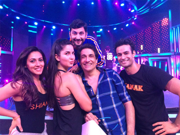 Katrina with Shiamak Davar
