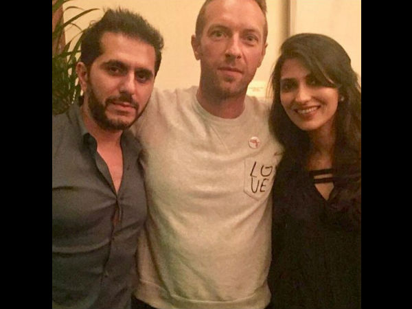 Ritesh Sidhwani With Chris Martin