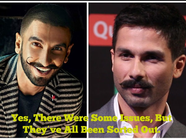 Shahid On His Issues With Ranveer Singh