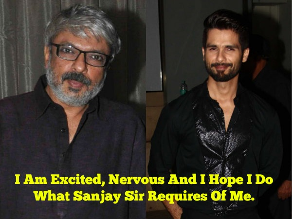 Shahid On Working With Mr Bhansali