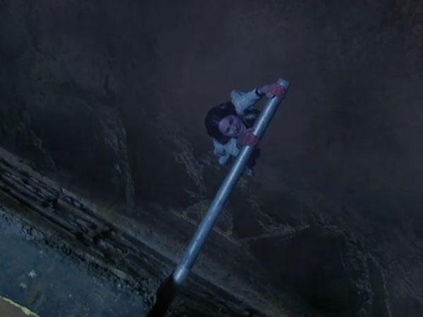 Akshara Hanging On A Pipe