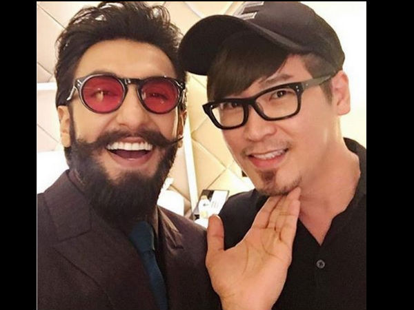 Ranveer With His Stylist   S
