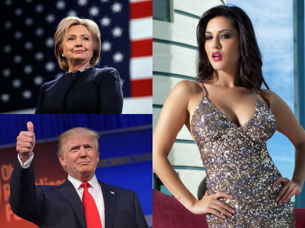 Sunny Leone Donald Trump Hillary Clinton US Election Results 2016