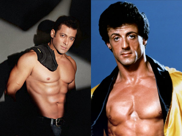 Sylvester Stallone Salman Khan Shirtless Rocky