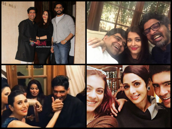 Pictures! Aishwarya Rai, Karisma, Kajol & Others Spotted At Manish Malhotra's Midnight B'day Party!