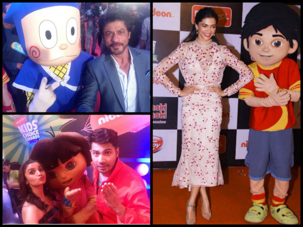 PICS! Deepika Padukone, Shahrukh Khan, Alia Bhatt & Others At Nickelodeon Kids Choice Awards 2016!