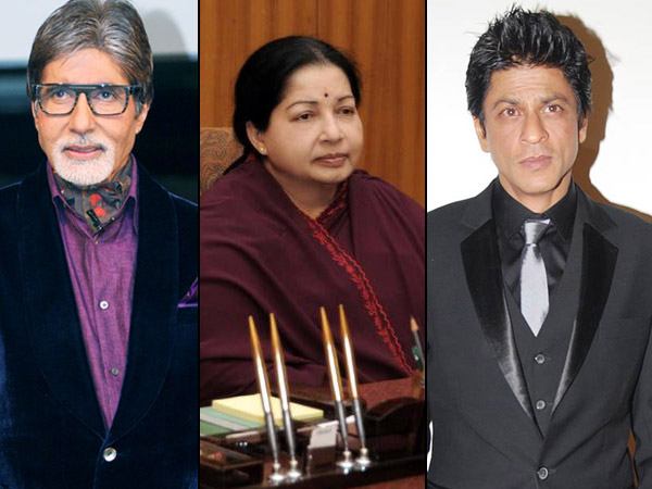 RIP Jayalalithaa: Shahrukh Khan, Amitabh Bachchan & Other Celebs Offer Condolences On Twitter