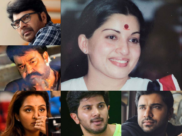 Jayalalithaa's Demise: Mammootty, Mohanlal & Others Express Grief