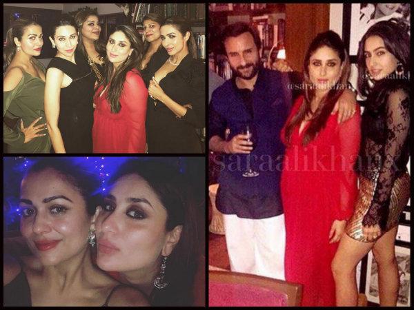 Kareena Kapoor Looks Hot At Christmas Party Kareena Kapoor Spotted With Sara Ali Khan Kareena Kapoor Christmas Party Pictures Filmibeat
