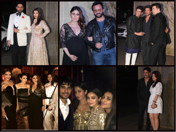 PICTURES! Kareena, Aishwarya & The Entire B-town Spotted At Manish Malhotra's Grand Birthday Bash!