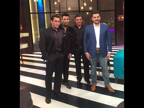 #koffeecentury: Salman, Sohail & Arbaaz Khan On The 100th Episode Of Koffee With Karan 5