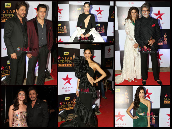 Star Screen Awards Pictures: Deepika Padukone, Salman-SRK, Bachchans & Others Jazz Up The Red Carpet