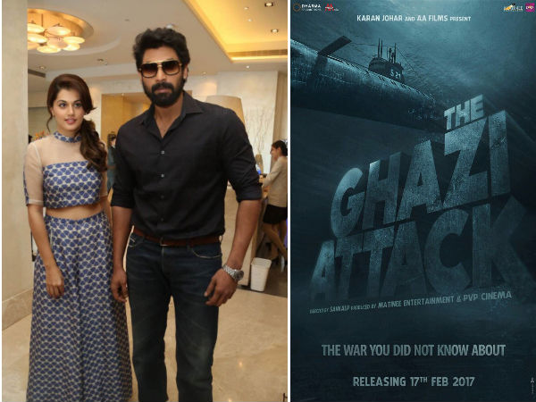 Karan Johar Releases The First Poster Of 'The Ghazi Attack' Starring Rana Daggubati & Taapsee Pannu!
