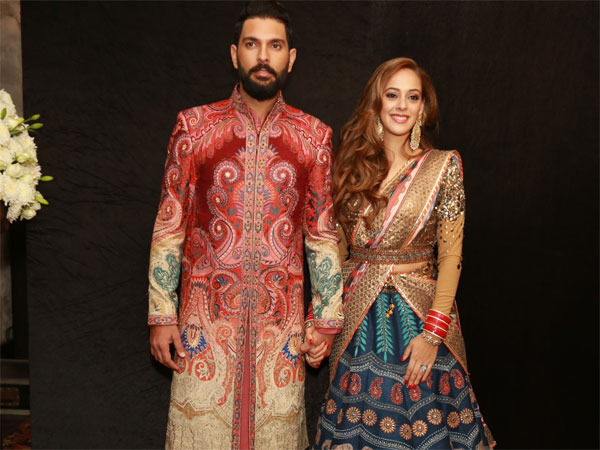 Pictures Of Yuvraj Singh & Hazel Keech's Wedding Reception In New Delhi!