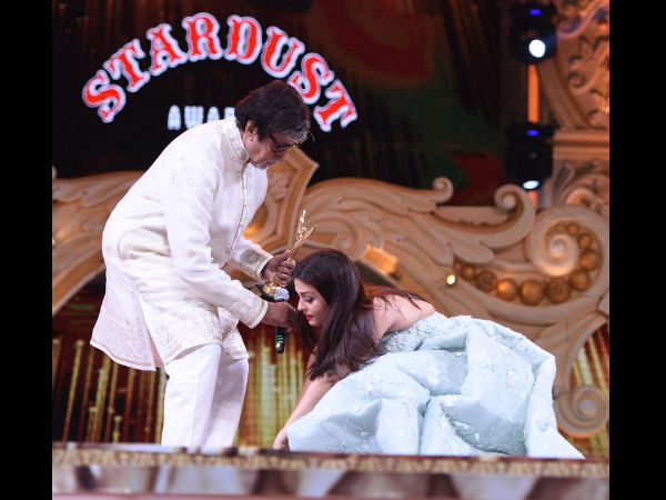 When Aishwarya Touched Big B's Feet
