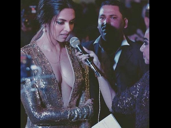 Deepika Interacts With The Media
