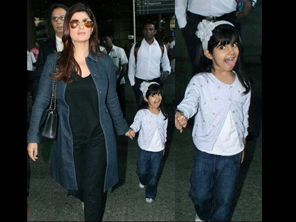 Akshay Kumar Daughter Nitara Funny Airport Pictures ...