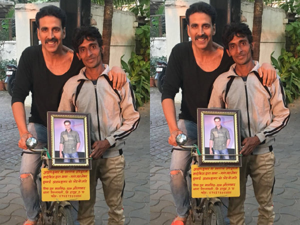 Crazy! Akshay Kumar's Fan Cycles From Haridwar To Mumbai Just To Meet Him!
