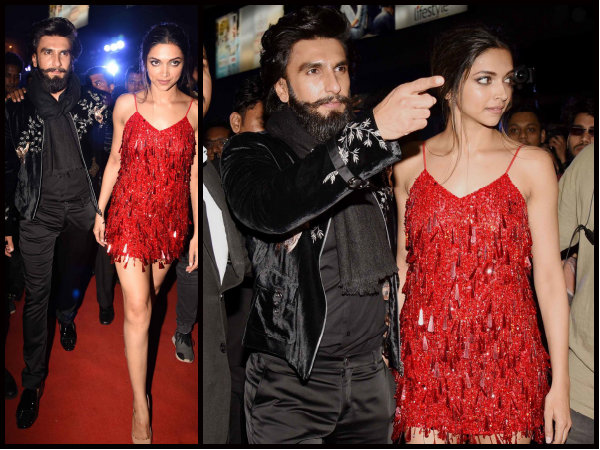 LOVE BIRDS! Deepika Padukone & Ranveer Singh Walk Hand In Hand Post xXx Special Screening [Pictures]