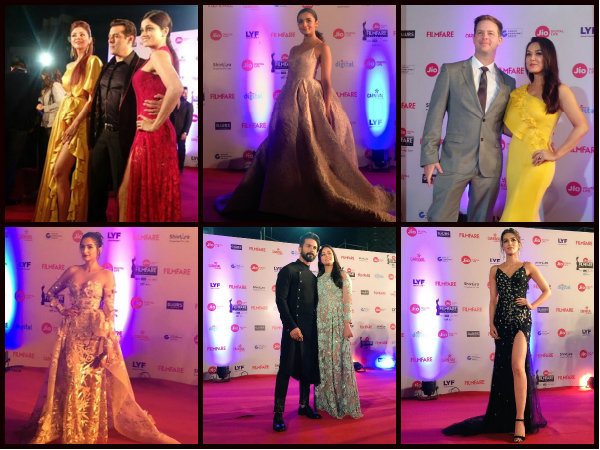 Jio Filmfare Awards 2017 Red Carpet Pictures: Bollywood Celebs Turn Up The Heat!