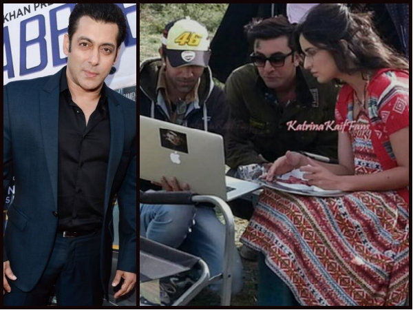 OMG! Katrina Kaif Met Salman Khan On The Sets Of Jagga Jasoos; Ranbir Kapoor Slammed The Door!
