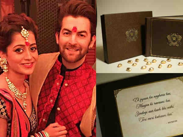 HEART-WARMING! This Is How Neil Nitin Mukesh's Wedding Invite Looks Like!