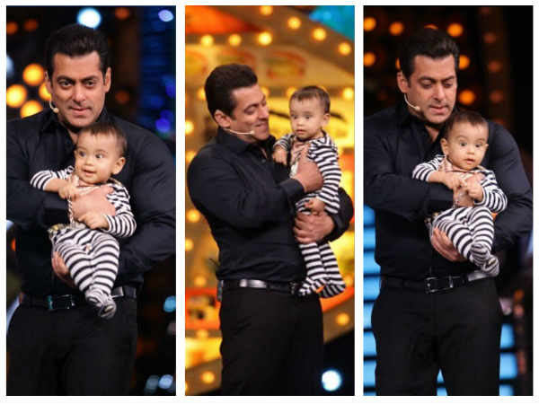 Bigg Boss 10: Cuteness Overloaded!Salman Khan's Little Nephew Ahil Stole The Limelight From His Mamu