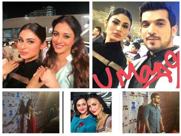 Mouni Roy, Arjun Bijlani, Karan Patel, Nora Fatehi & Other TV Actors At Umang 2017 (PICS)