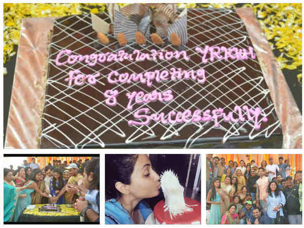 8 Years Of Yeh Rishta Kya Kehlata Hai: Hina Khan Receives Gift; YRKKH Team Celebrates