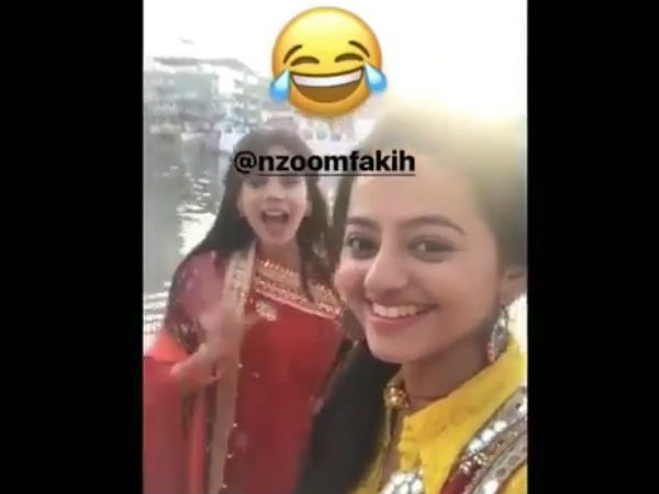 Anjum & Helly On The Sets