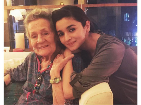 Cutest Picture! Alia Bhatt Celebrates Her Grandmother's 88th Birthday