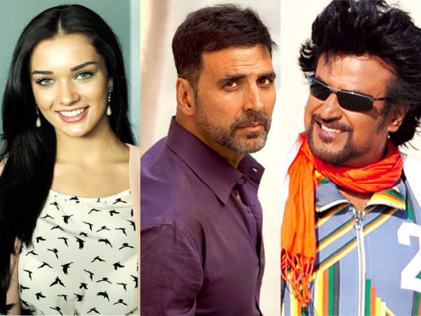 Amy Jackson Superstar Rajinikanth Akshay Kumar