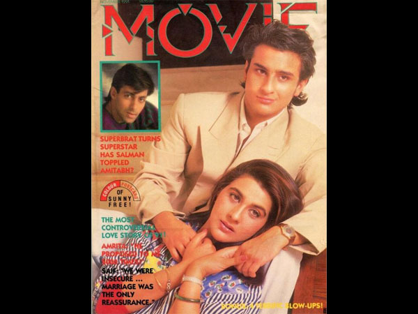 Most CONTROVERSIAL Love Story Of 91! Saif Ali Khan's Rare Magazine Shoot With First Wife Amrita