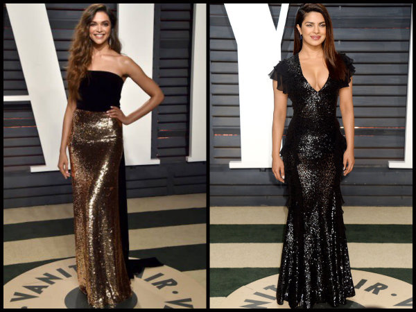 NEW PICTURES: Deepika Padukone & Priyanka Chopra Attend Vanity Fair Oscar Party; Who Looked Better?