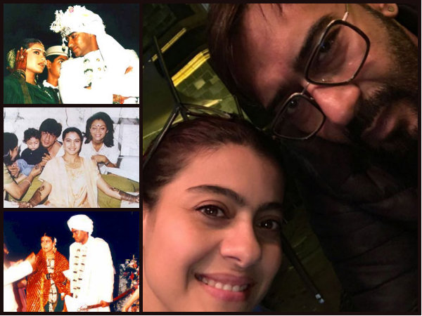 Kajol & Ajay Devgn Share A Romantic Click On Their 18th Anniversary; Also See Their Wedding Pictures