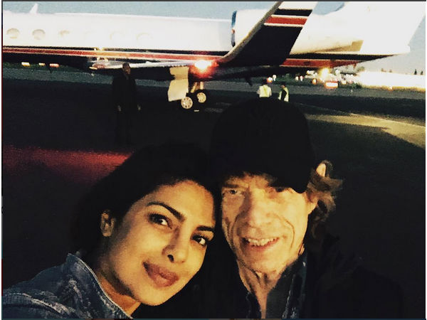 Priyanka Chopra Meets Mick Jagger From The Rolling Stones!