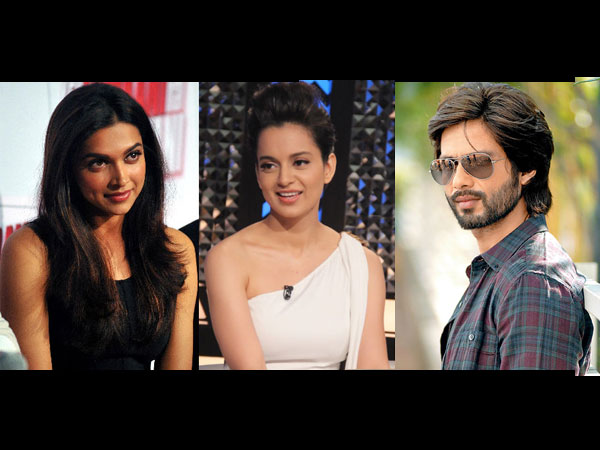 SHOCKING! Kangana Ranaut Takes A Dig At Deepika Padukone While Talking About Shahid Kapoor