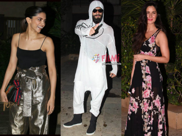 OUCH! Ranveer Singh DITCHES Deepika Padukone & Parties With Katrina Kaif At Shahid Kapoor's Bash!