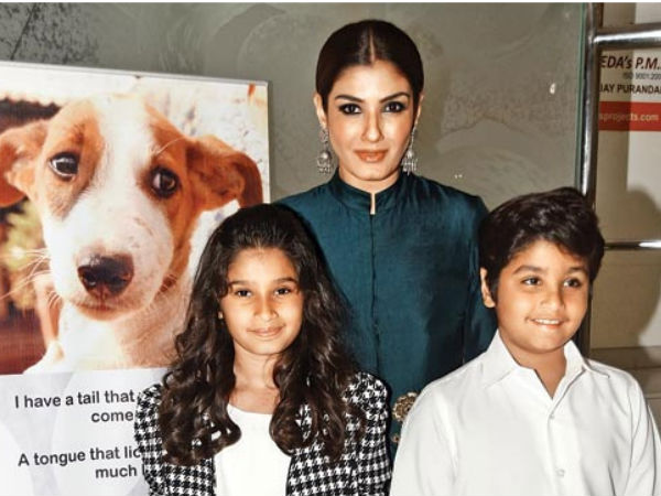 Raveena Tandon Kids Children Animal NGO Award Idea Rasha Ranbirvardhan
